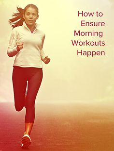 Need some motivation to keep that new years resolution? Do These the Night Before to Ensure Morning Workouts Happen: prepare clothes, eat a snack before, prepare a fun playlist. Fitness Motivation, Fitness Diet, Health Fitness, Morning Workout Motivation, Health Goals, Fitness Workouts, Fitness Quotes, Triathlon, Biceps