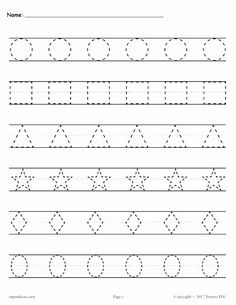 Free printable shapes worksheets for toddlers and preschoolers. Preschool shapes activities such as find and color, tracing shapes and shapes coloring pages. Shapes Worksheet Kindergarten, Alphabet Tracing Worksheets, Shapes Worksheets, Printable Preschool Worksheets, Handwriting Worksheets, Worksheets For Kids, Tracing Letters, Preschool Shapes, Printable Shapes