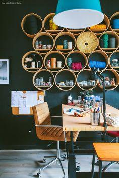 20-decoracao-atelie-parede-preta-escritorio-estante-nido-campolongo