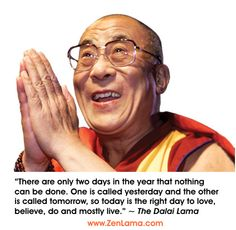 Dalai-Lama - There are only two days in the year that nothing can be done.......