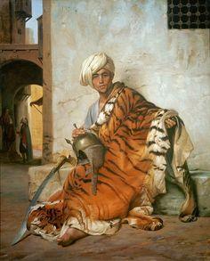 Каирский торговец шкурами. Жан-Леон Жером. Частная коллекция. 1869