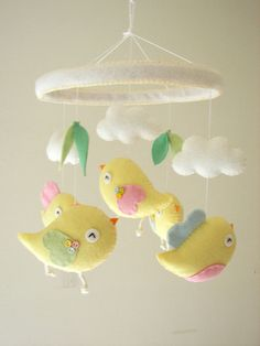 Hey, I found this really awesome Etsy listing at https://www.etsy.com/listing/175582208/baby-crib-mobile-bird-mobile-felt-mobile