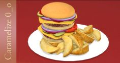 Hamburger Plate at Caramelize via Sims 4 Updates