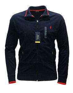 POLO RALPH LAUREN Polo Ralph Lauren Men'S Performance Track Jacket Full Zip Big And Tall French Navy. #poloralphlauren #cloth #