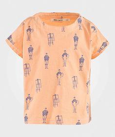 Bobo Choses T-shirt Painters Aprikos Apricot wash