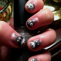 My attempt at Totoro nails!