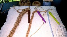 Crochê Corda - Com Fio de  Rami e Linha de Algodão