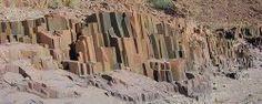 Organ pipes valley namibia