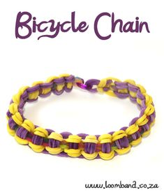 Bicycle Chain Loom Band Bracelet Tutorial, instructions and videos on hundreds of loom band designs. Shop online for all your looming supplies, delivery anywhere in SA.