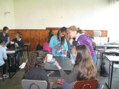 The global experiment in action by a class at Scoala Gimnaziala 4 Fratii Popeea, Romania.