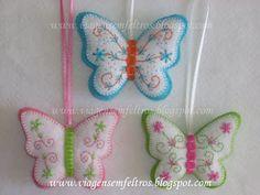 Embroidered Felt Butterflies
