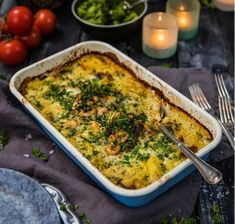 Lchf, Quiche, Mashed Potatoes, Macaroni And Cheese, Good Food, Food And Drink, Fish, Breakfast, Ethnic Recipes