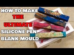 How to make a silicone pen blank mould. DIY mold making - YouTube Wood Turning Lathe, Wood Turning Projects, How To Make Resin, Pen Blanks, Diy Epoxy, Pen Turning, Wooden Vase, Custom Pens, Wood Resin