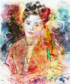Impressionistic portraits with watercolors by Karen Bonaker. Really for Corel Painter