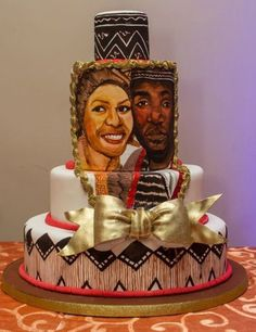 Adorable African Wedding Cake Ideas That You Will Love For Your Inspirations - How to plan an African Inspired Wedding on a Budget Many African American couples like the idea of incorporating their heritage into their wedding nup.