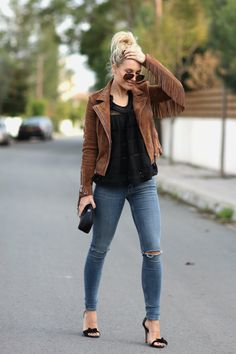 Jacket/Barbara Bui Top/Isabel Marant Etoile Jeans/AllSaints Heels/Isabel Marant (from last year) Sunnies/RayBan Bag/Chanel