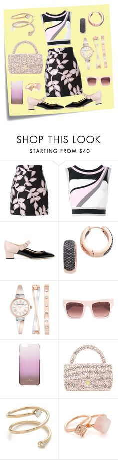 """""""Metallic Floral Print Skirt..**"""" by yagna ❤ liked on Polyvore featuring Post-It, MSGM, No Ka'Oi, Valentino, Bronzallure, Anne Klein, STELLA McCARTNEY, Kate Spade, Chanel and ZoÃ« Chicco"""