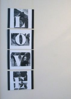 Black and white photos transferred to canvas  http://blogs.yankeemagazine.com/craft-ideas/transfer-photos-and-words-to-canvas/#