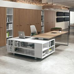 01 - Designer Desks from DVO ✓ all information ✓ high-resolution images ✓ CADs ✓ catalogues ✓ contact information ✓ find your. Office Cabin Design, Home Office Furniture Design, Cabin Interior Design, Small Office Design, Home Interior, Cabin Office, Interior Office, Executive Office Decor, Open Space Office