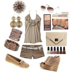 Taupe Summer, created by bentleyhale on Polyvore