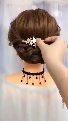 Hair Up Styles, Medium Hair Styles, Easy Hairstyles For Long Hair, Wedding Hairstyles, Pink Hairstyles, Elegant Hairstyles, Celebrity Hairstyles, Bridal Hair Buns, Long Hair Video