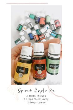 Learn more about Young Living oils and get your starter kit today! Young Essential Oils, Thieves Essential Oil, Essential Oils Guide, Essential Oils Cleaning, Essential Oils Stress Away, Essential Oil Combinations, Essential Oil Diffuser Blends, Just In Case, Apple Pie