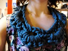 crocheted rope collar