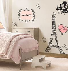 Bedroom Wall Stickers Large Vinyl Art Sticker - Paris