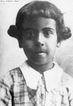 """'Sidonie Adlersburg, a [Roma/Sinti] girl adopted by an Austrian family in 1933. On March 10, 1943 she was taken to an assembly camp in the Tirol. Later she was deported to the Auschwitz camp, where she perished. See: Hackl, Erich, Farewell Sidonia. NY: Fromm International Press, 1991."""""""