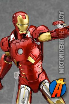 6-inch scale Iron Man Mark Seven Figma action figure from Max Factory. #ironman #avengers #figmafigures #actionfigures #actionfigure