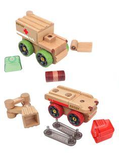 EDTOY Magnamobiles Firetruck