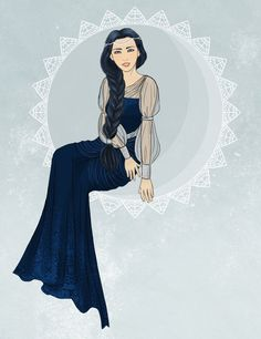 Anaire by hereff.deviantart.com on @deviantART. Fingolfin's wife. I know that Aman was her home but personally I can't imagine being separated from a husband as awesome as Fingolfin, whether I had friends left in Aman or not.