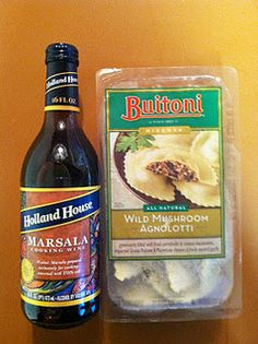Chicken Marsala with Mushroom Ravioli - just like Macaroni Grill ~ yum! I LOVE Mac Grills mush rav!