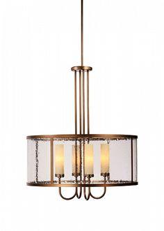 Seeded glass drum light | Hammerton
