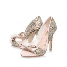 Kurt Geiger | GABRIELLA Gold High Heel Occasion Shoes by Miss KG