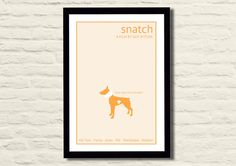 Snatch Movie Poster Art Print 11 X 17, Minimalist, Modern Poster, Home Decor