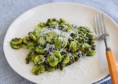 """Soft, chewy orecchiette (""""little ears"""" in Italian) are paired with spicy Calabrian sausage and a rich, earthy broccoli rabe pesto in this classic from Babbo Ristorante. Italian Entrees, Italian Recipes, Italian Meals, Homemade Pesto, Homemade Sauce, Pasta Recipes, Dinner Recipes, Cooking Recipes, Mario Batali"""