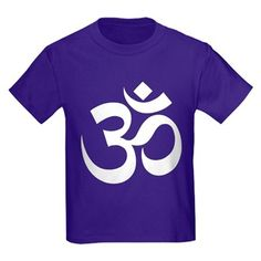 Children's dark color purple t-shirt with OM (AUM) theme. The OM (AUM) symbol was made popular by yoga and eastern cultures that use it to symbolize the primal sound of creation and balance. Available in black, red, navy, royal blue, purple, kids small, kids medium, kids large, kids x-large size for only $23.99. Go to the link to get the product and see other options - http://www.cafepress.com/stomaum
