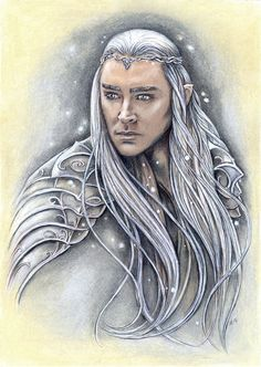 Thranduil Painting. The King of the Woodland Realm by jankolas #Mirkwood #elves