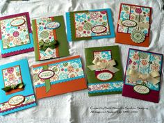 Sunshine Stamping with Independent Stampin' Up! Demonstrator Becki Ritson: One Sheet Wonder Class