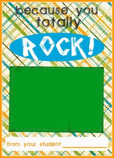 Teacher Appreciation Ideas - Free Printable for Gift Cards - One for iTunes and one for Barnes & Noble