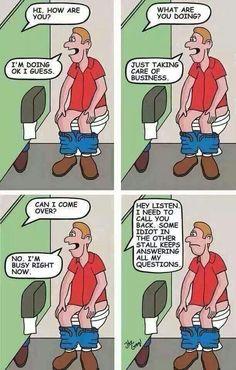 Bathroom conversation? Lol