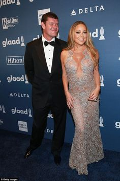 Split: Mariah Carey is blaming Scientology for the collapse of her engagement to billionaire James Packer (pictured together), it was reported last night