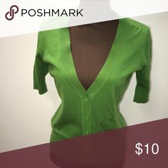 Green 3/4 sleeve cardigan Amazing condition! Size M....fits like a small New York & Company Sweaters Cardigans