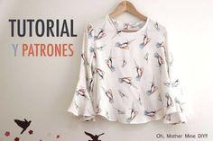 20 Ideas Womens Clothing Patterns Free Tutorials For 2019 Sewing Patterns Free, Free Sewing, Clothing Patterns, Pattern Sewing, Jacket Pattern, Top Pattern, Free Pattern, Costura Vintage, Modelos Fashion