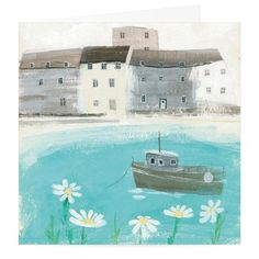 Quiet Bay Art Greeting Card By Hannah Cole   Whistlefish Galleries