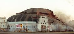 The St. Louis Arena during demolition, February 27, 1999.