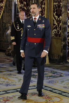 King Felipe donned the uniform he wears as captain general of the Air Force.