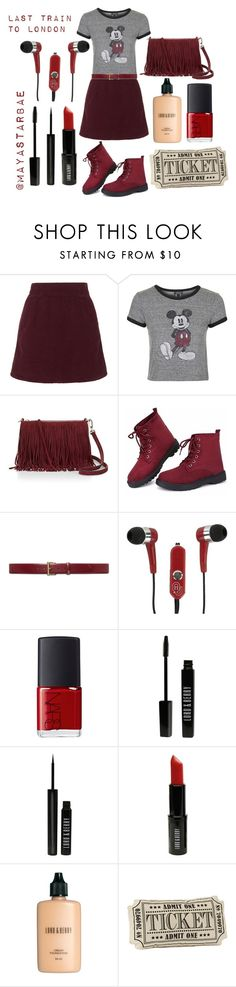 """""""Taking the metro to London"""" by mayastarbae on Polyvore featuring Topshop, Rebecca Minkoff, Lauren Ralph Lauren, Mizco, NARS Cosmetics, Lord & Berry, women's clothing, women, female and woman"""