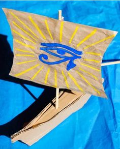 Build a paper boat that's modeled on the ones used to cross the Nile River in ancient Egypt!